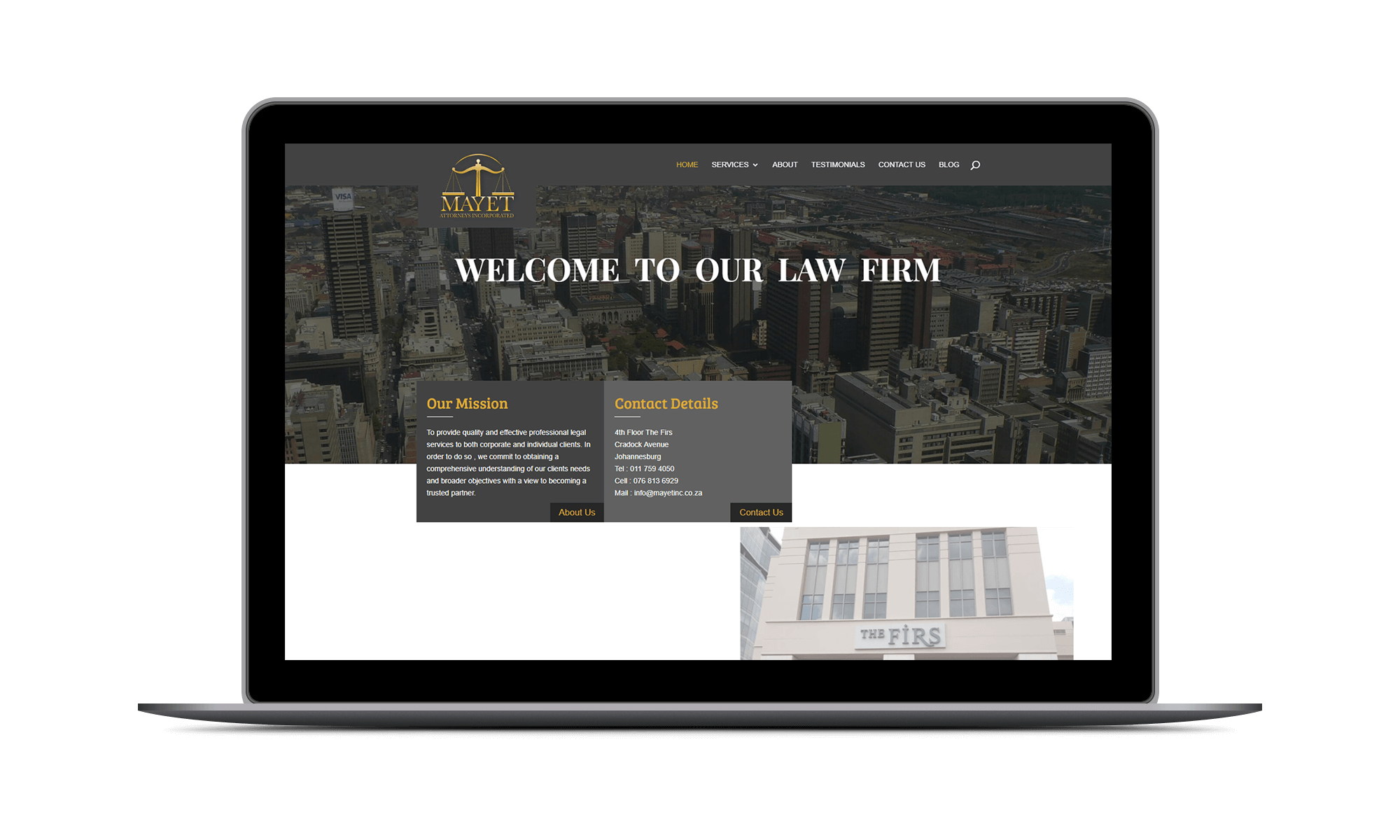 Mayet Attorneys Incorporated - Project by DEZIGN-IT