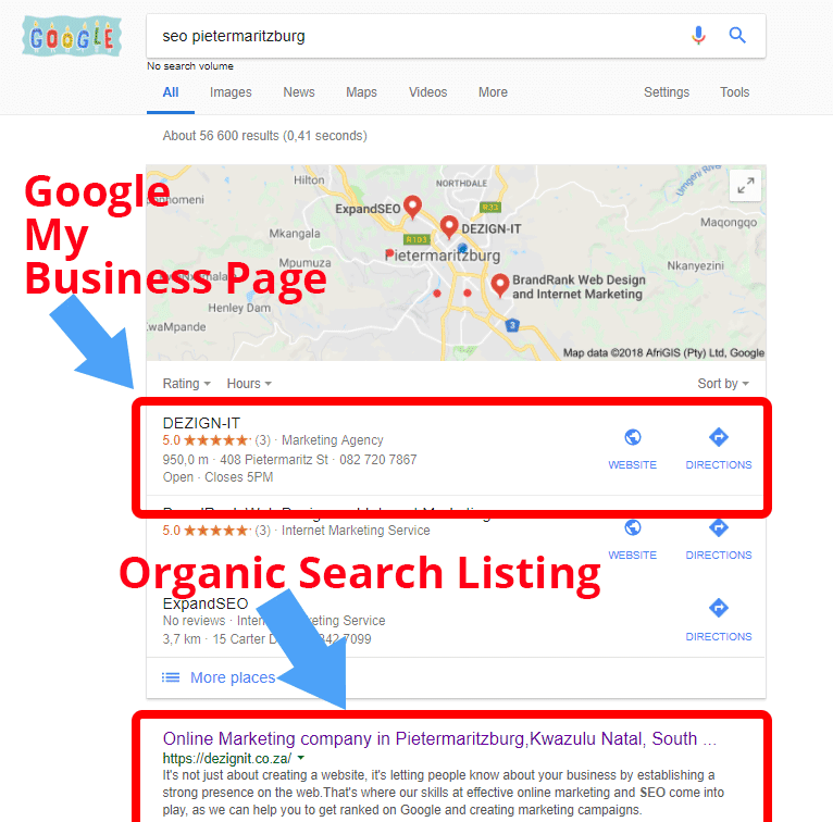 DEZIGN-IT Google my business page - Boost your SEO