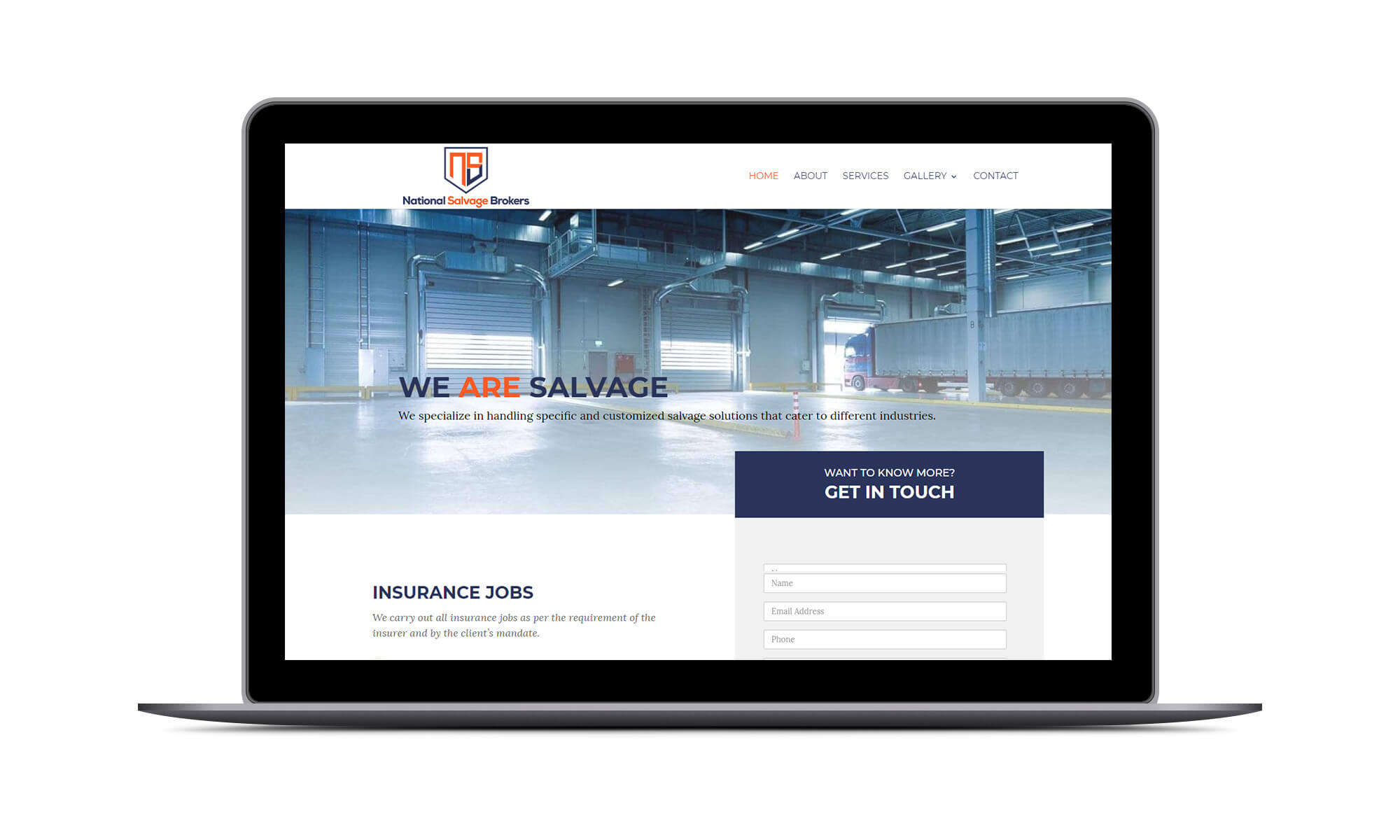 DEZIGN-IT Project for National Salvage Brokers
