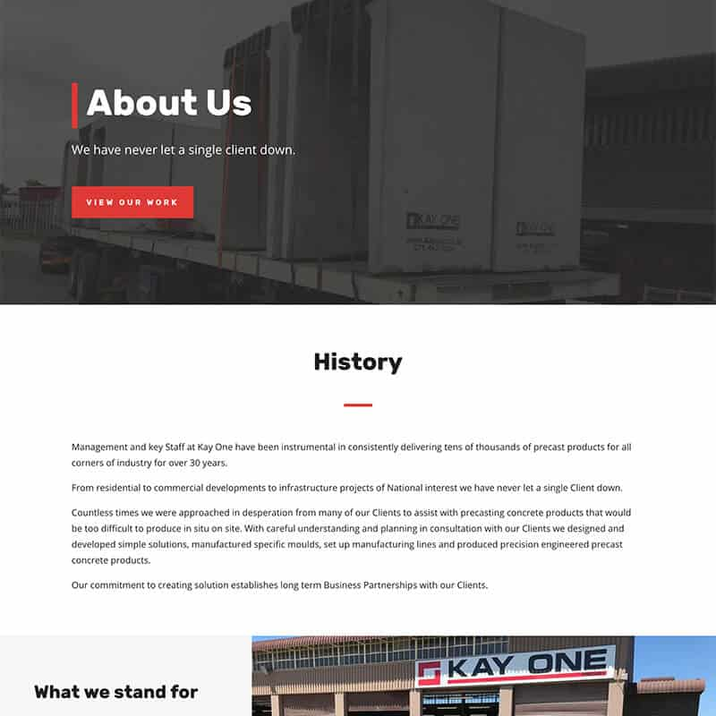Web Design, Online Marketing and SEO for Kay One Industries by DEZIGN-IT
