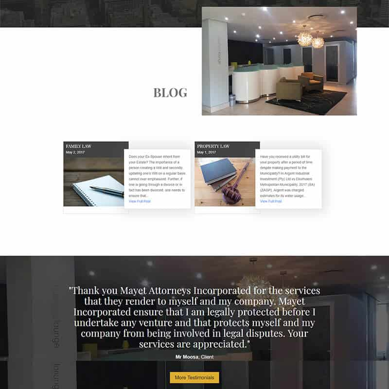 Web Design for Mayet Attorneys Incorporated by DEZIGN-IT