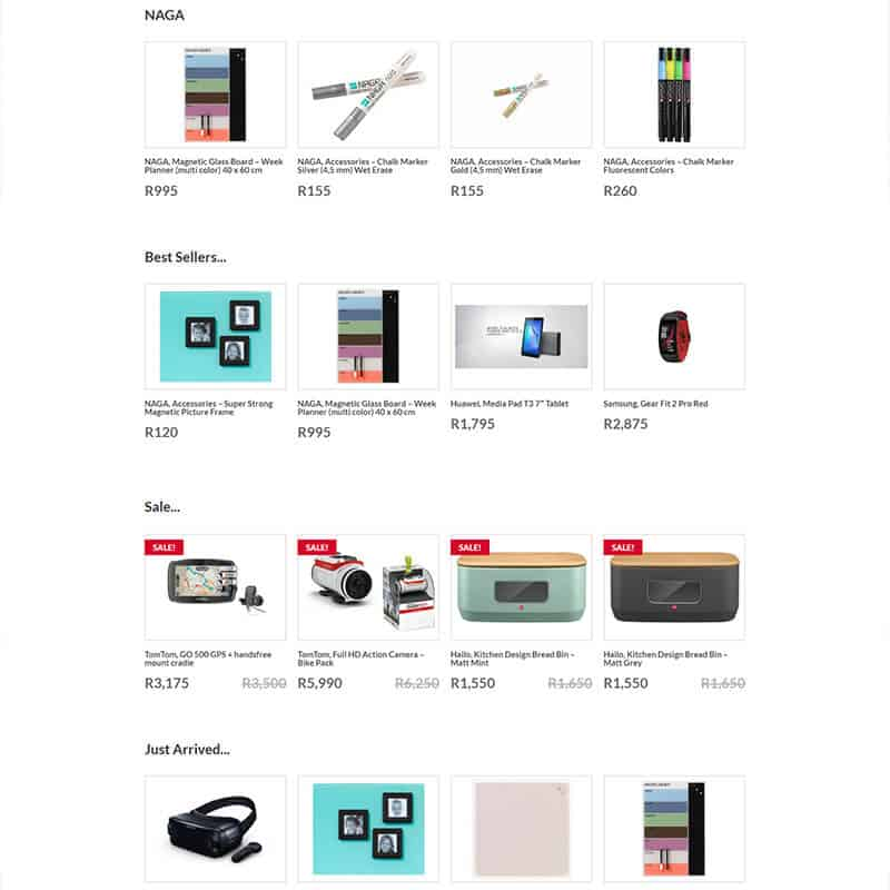 web design, ecommerce for Misterdeal