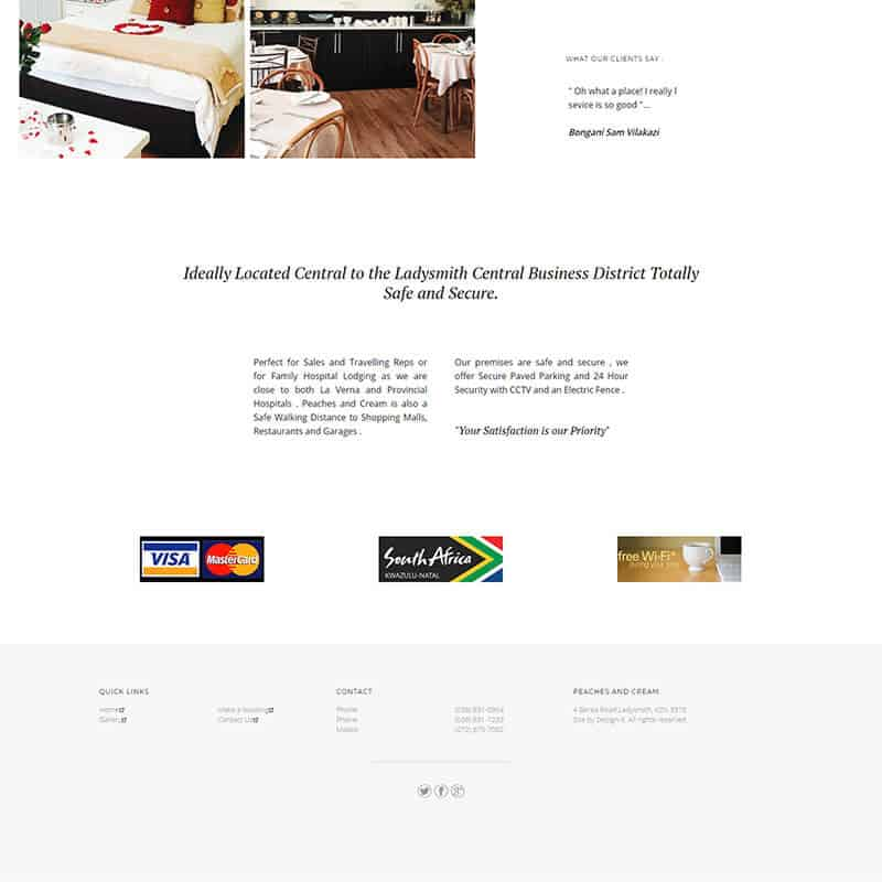 Web Design for Peaches and Cream