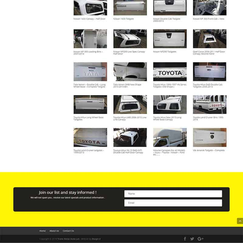 Web Design, Online Marketing and SEO for Trans Natal Auto Lot by DEZIGN-IT