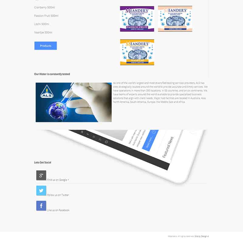 Web Design for Meanders Spring Water